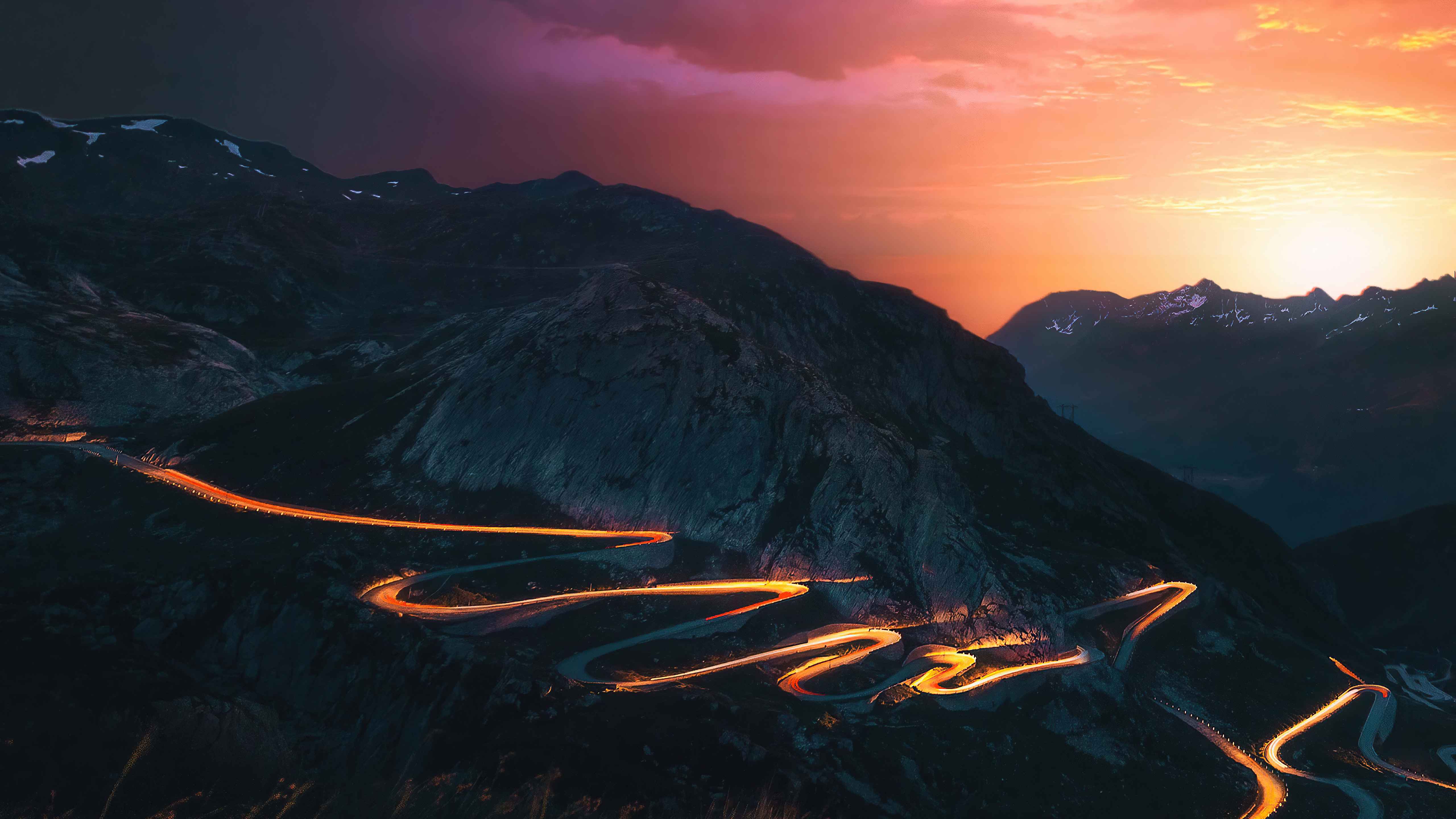 sunset trails mountains road long exposure 4k 1615197744 - Sunset Trails Mountains Road Long Exposure 4k - Sunset Trails Mountains Road Long Exposure 4k wallpapers