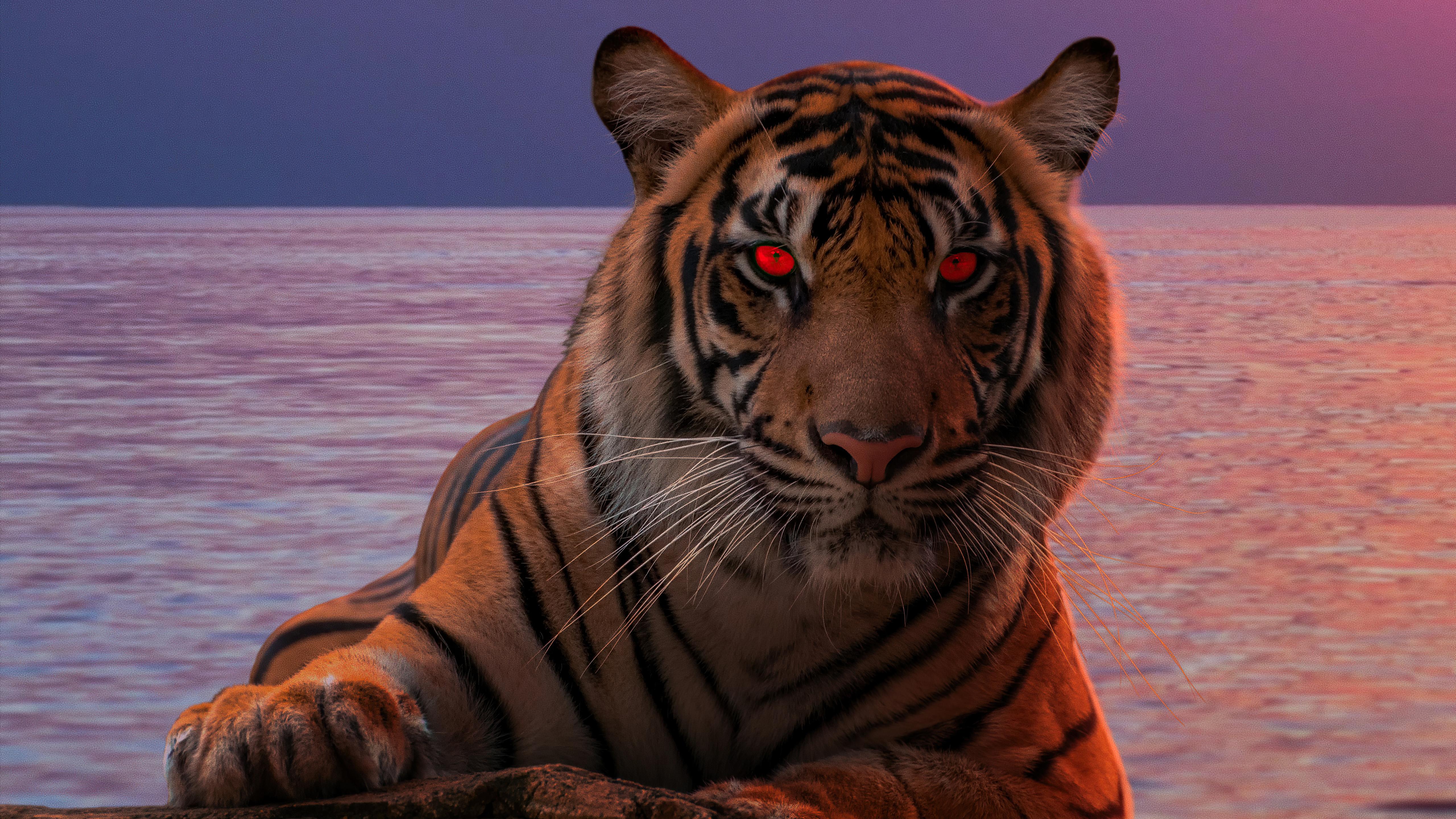 tiger glowing red eyes 4k 1616872018 - Tiger Glowing Red Eyes 4k - Tiger Glowing Red Eyes 4k wallpapers