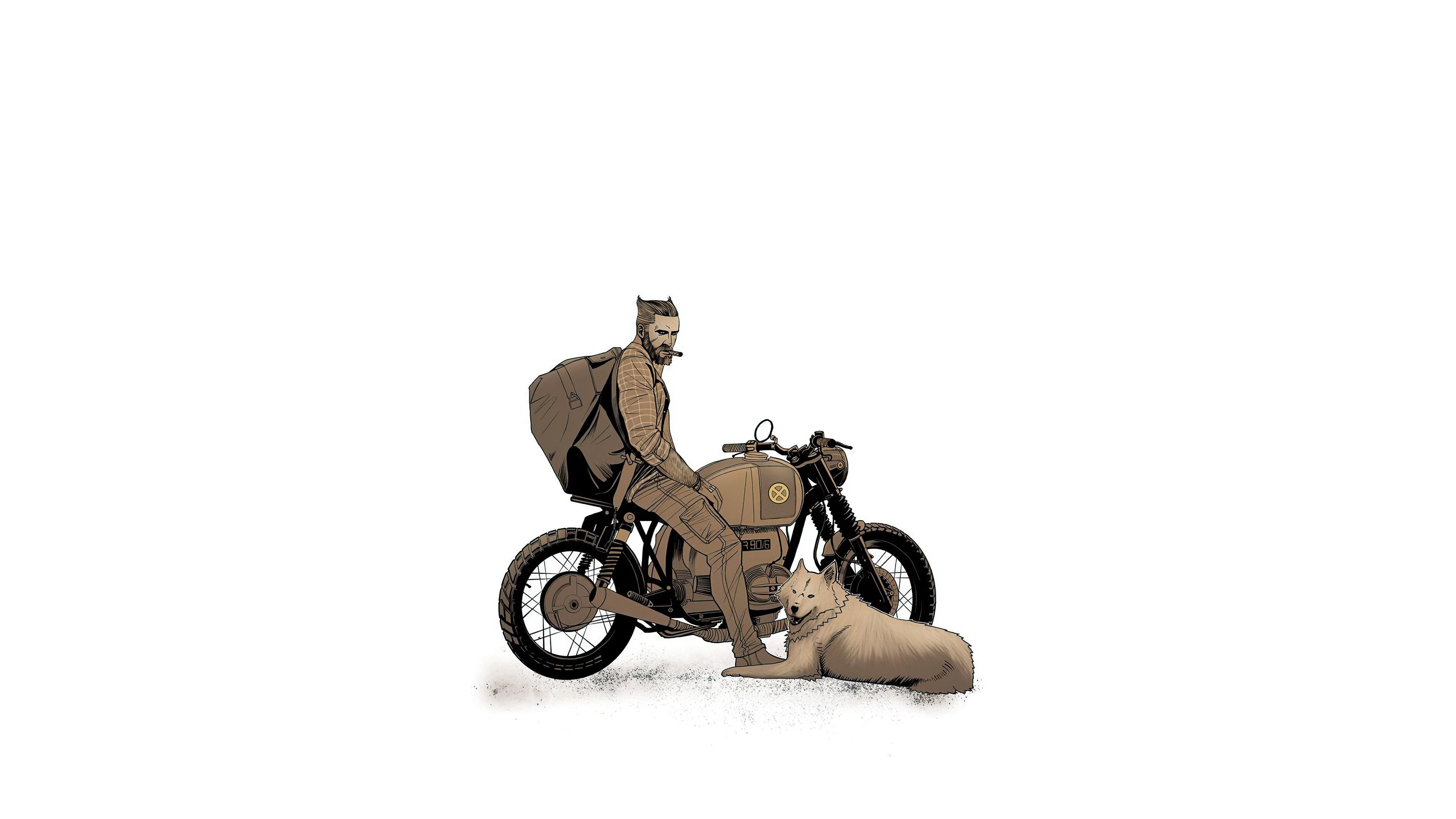 biker with dog 4k 1618131120 - Biker With Dog 4k - Biker With Dog 4k wallpapers