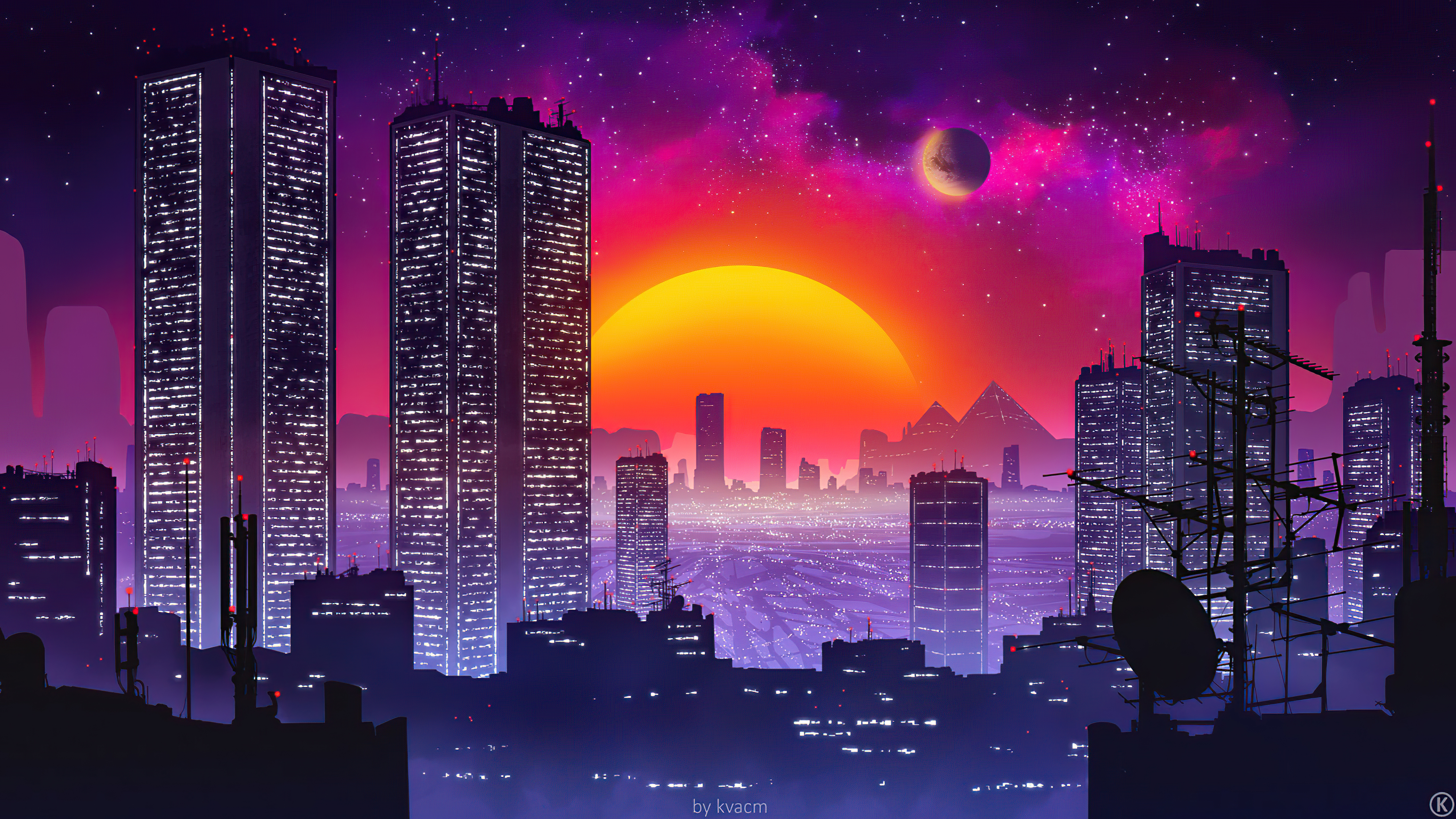 city retrowave sunset 4k 1618133345 - City Retrowave Sunset 4k - City Retrowave Sunset 4k wallpapers