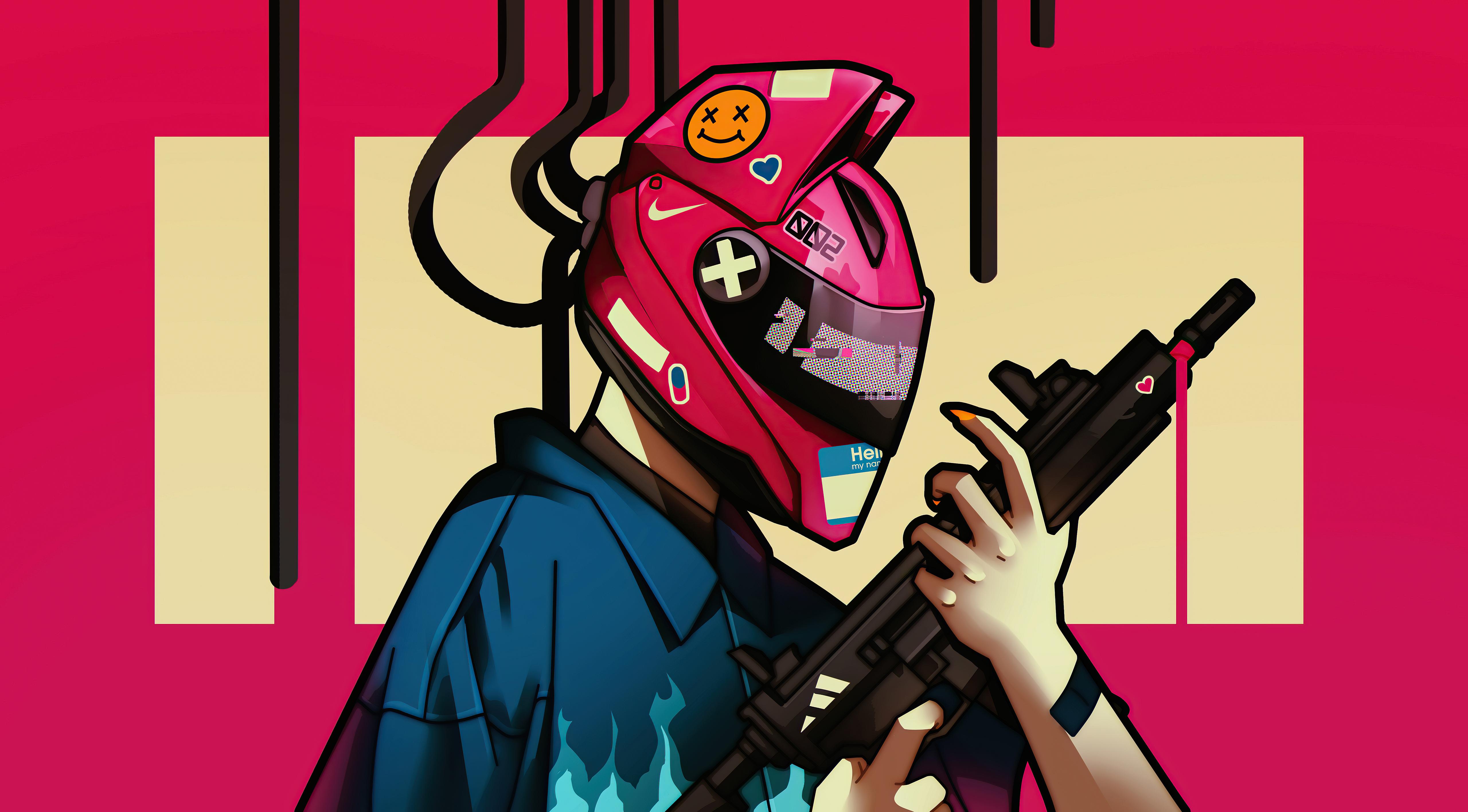 cyber girl helmet with gun 4k 1618130550 - Cyber Girl Helmet With Gun 4k - Cyber Girl Helmet With Gun 4k wallpapers