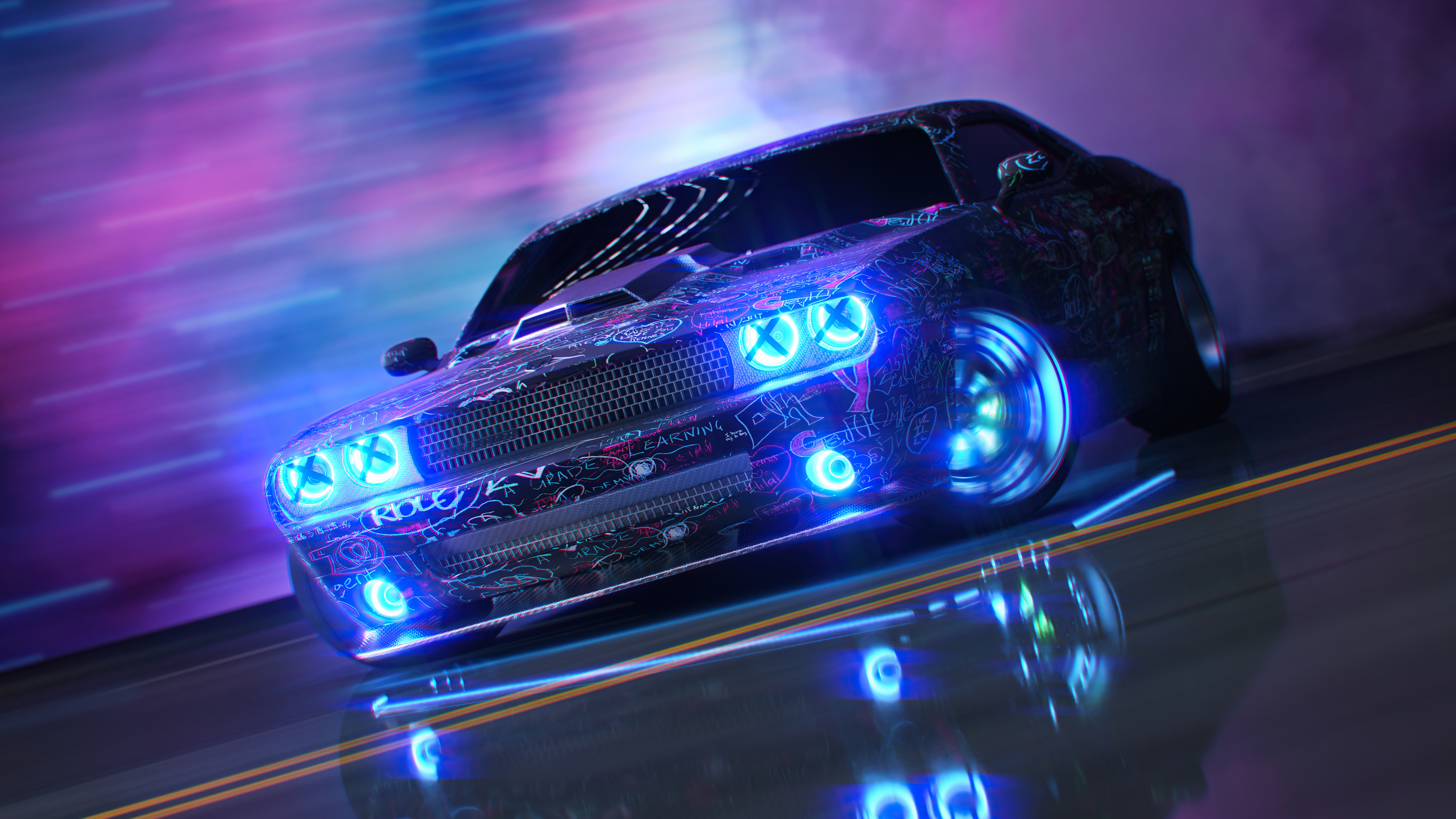 dodge challenger neon ride 4k 1618920903 - Dodge Challenger Neon Ride 4k - Dodge Challenger Neon Ride 4k wallpapers