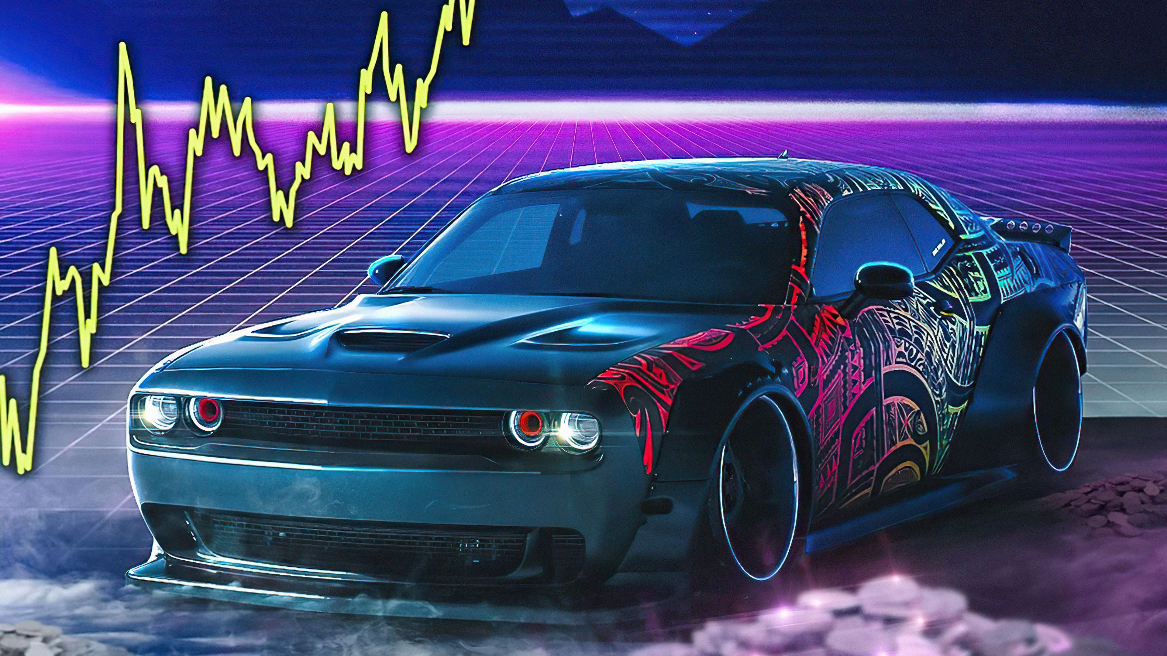 dodge challenger srt retro waves 4k 1618920300 - Dodge Challenger Srt Retro Waves 4k - Dodge Challenger Srt Retro Waves 4k wallpapers