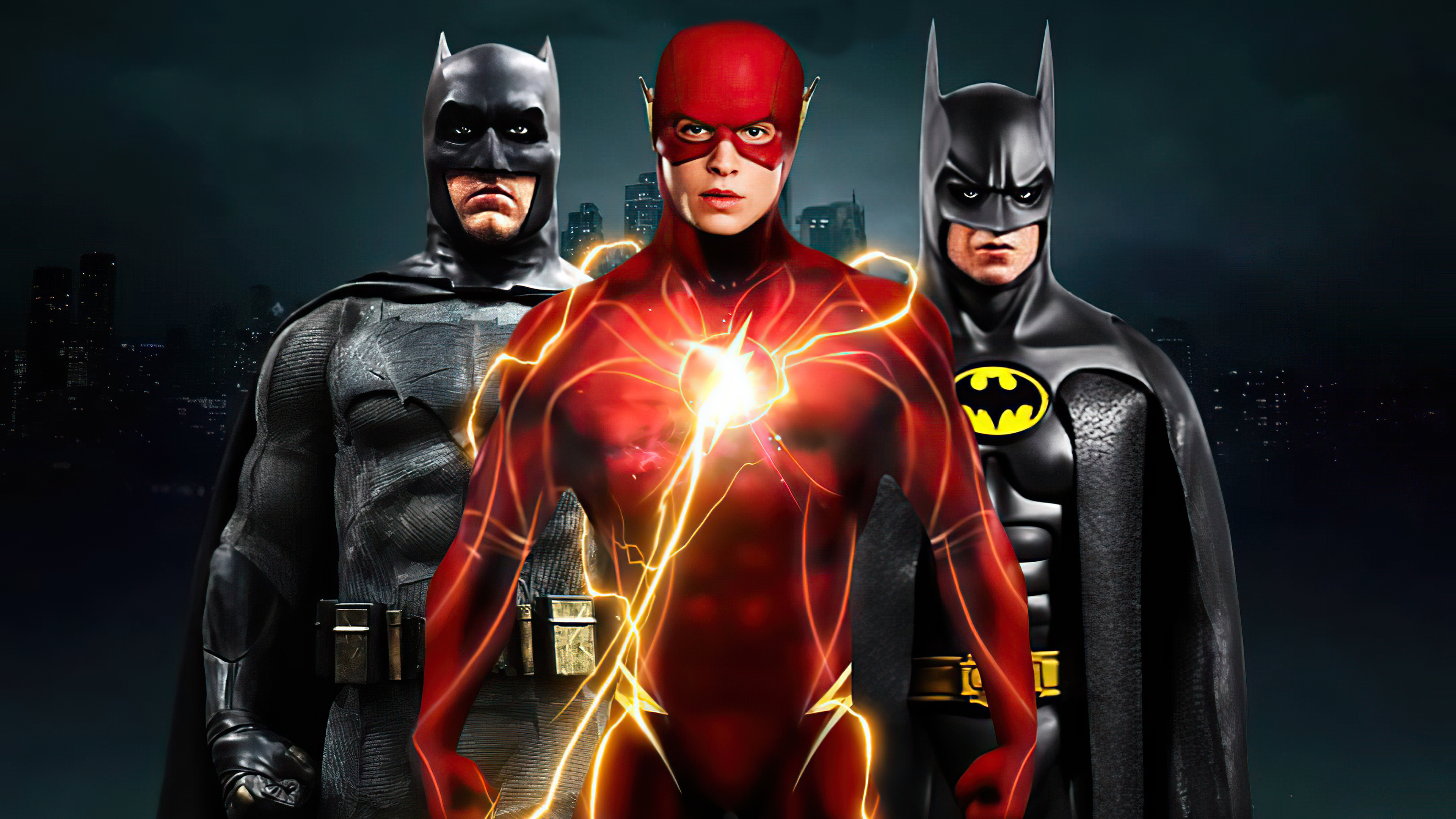 flash and two batmans 4k 1617446726 - Flash And Two Batmans 4k - Flash And Two Batmans 4k wallpapers