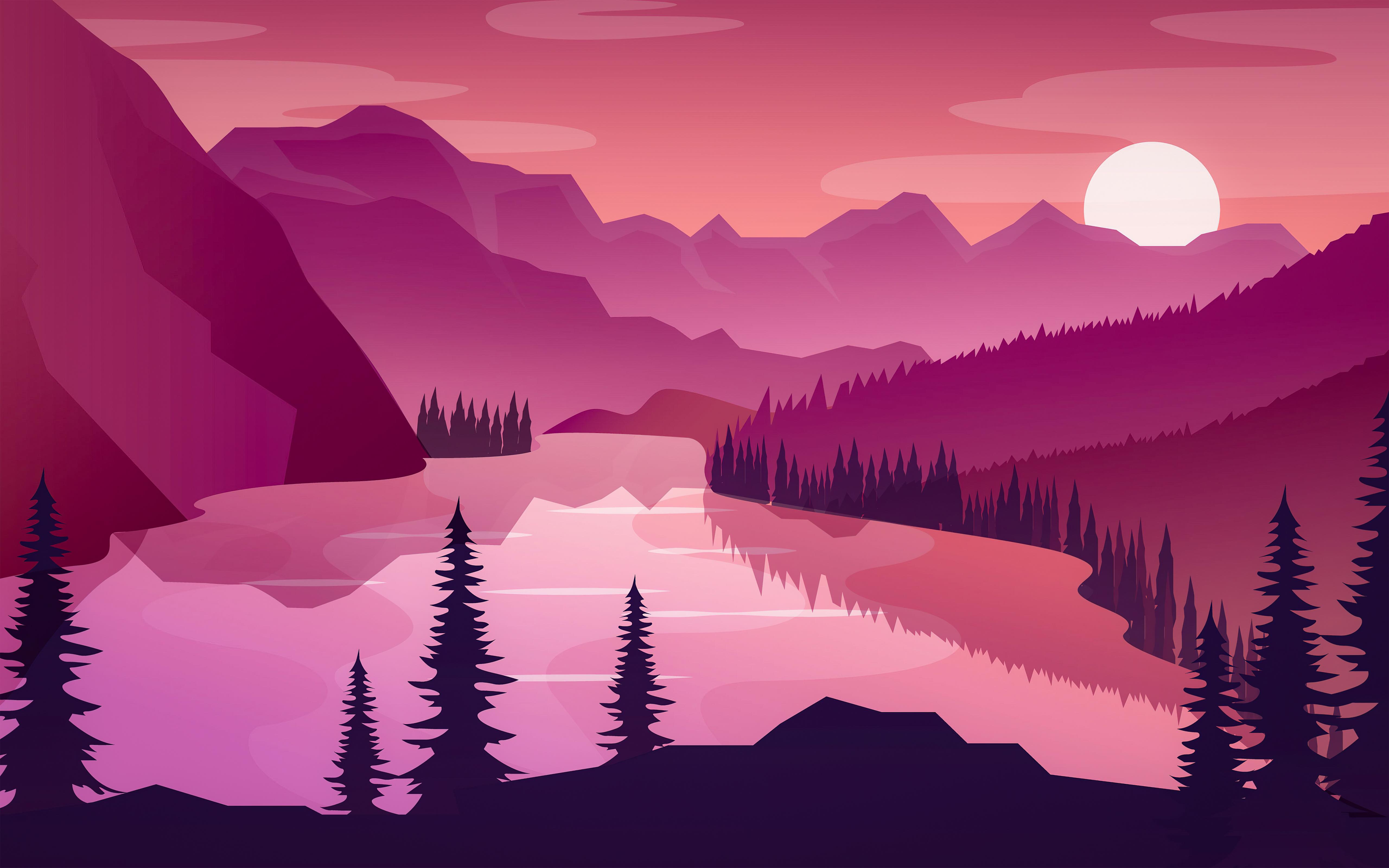 flat minimal morning landscape lake 4k 1618133461 - Flat Minimal Morning Landscape Lake 4k - Flat Minimal Morning Landscape Lake 4k wallpapers