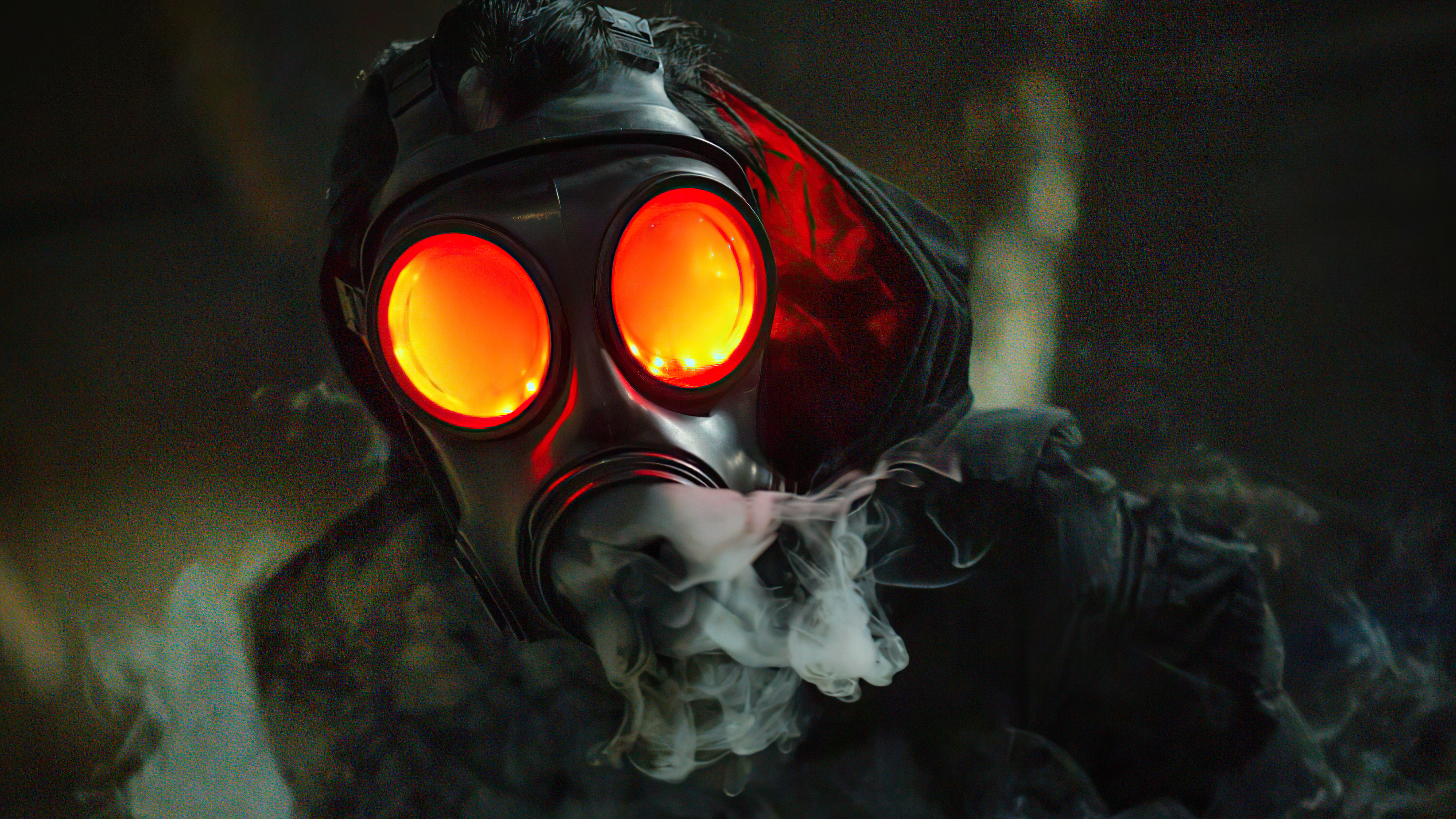 gas mask glowing eyes 4k 1618133345 - Gas Mask Glowing Eyes 4k - Gas Mask Glowing Eyes 4k wallpapers