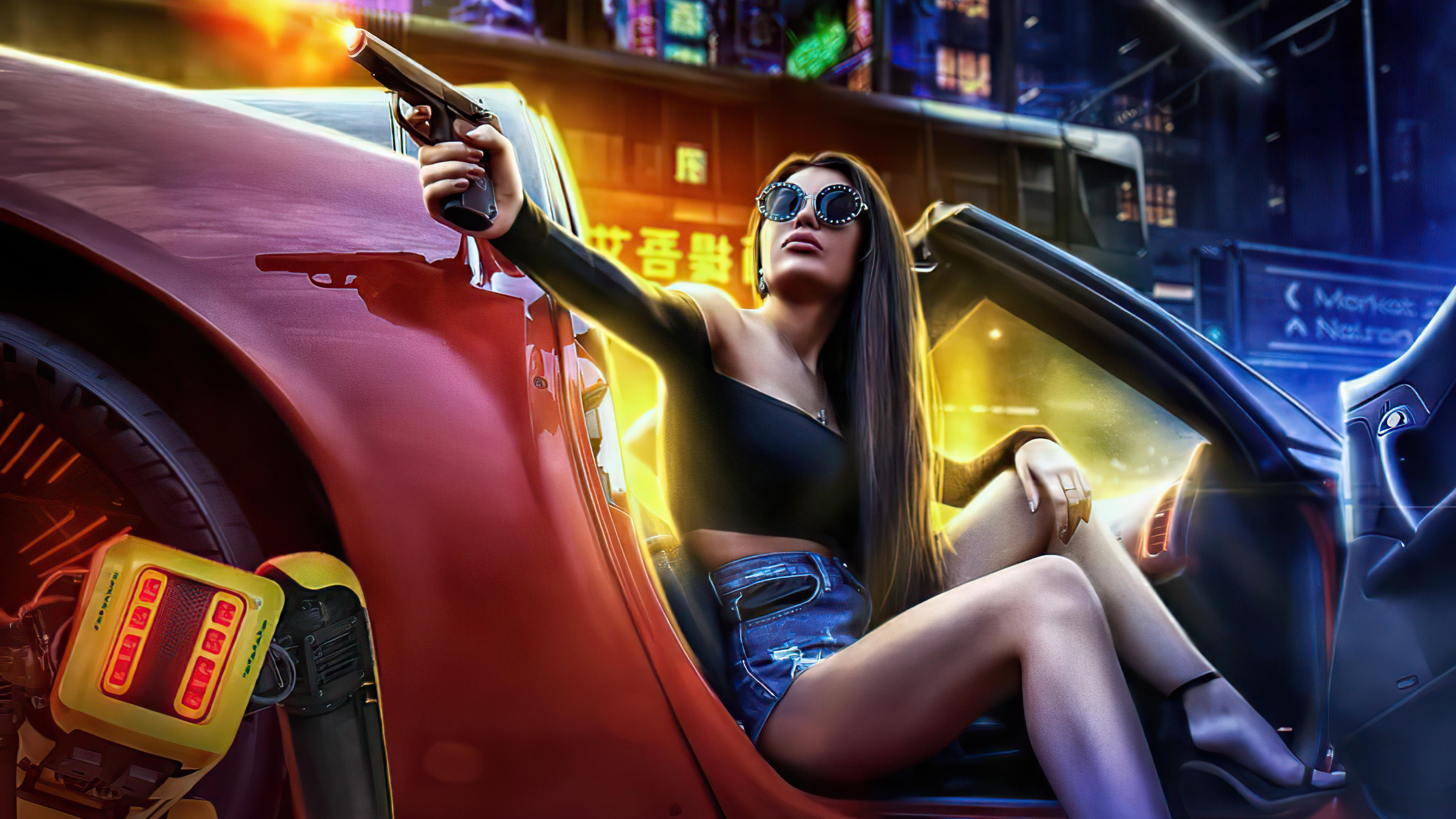girl with gun in car pointing gun scifi 4k 1618132912 - Girl With Gun In Car Pointing Gun Scifi 4k - Girl With Gun In Car Pointing Gun Scifi 4k wallpapers