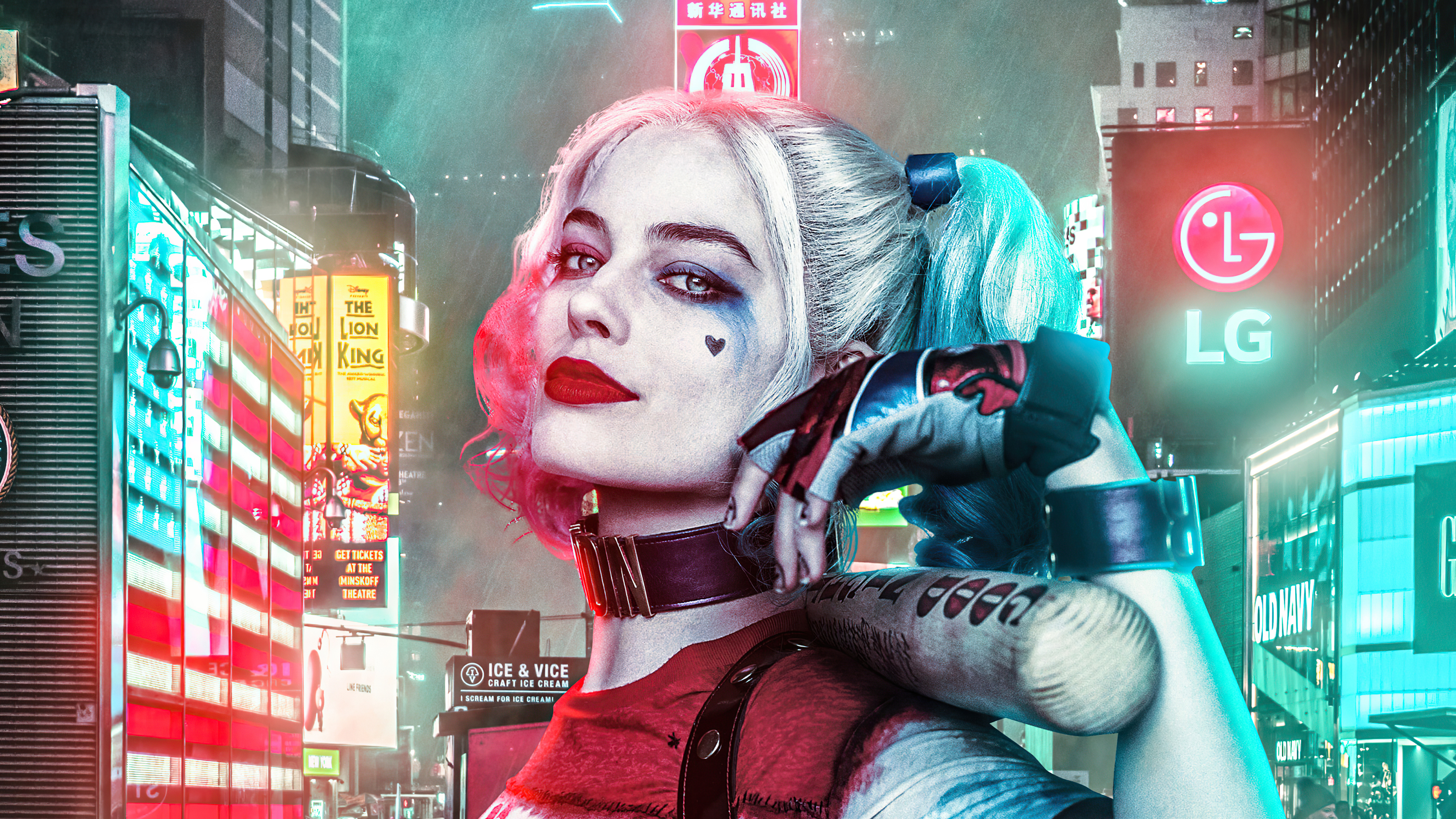 harley quinn with baseball in city 4k 1617445746 - Harley Quinn With Baseball In City 4k - Harley Quinn With Baseball In City 4k wallpapers