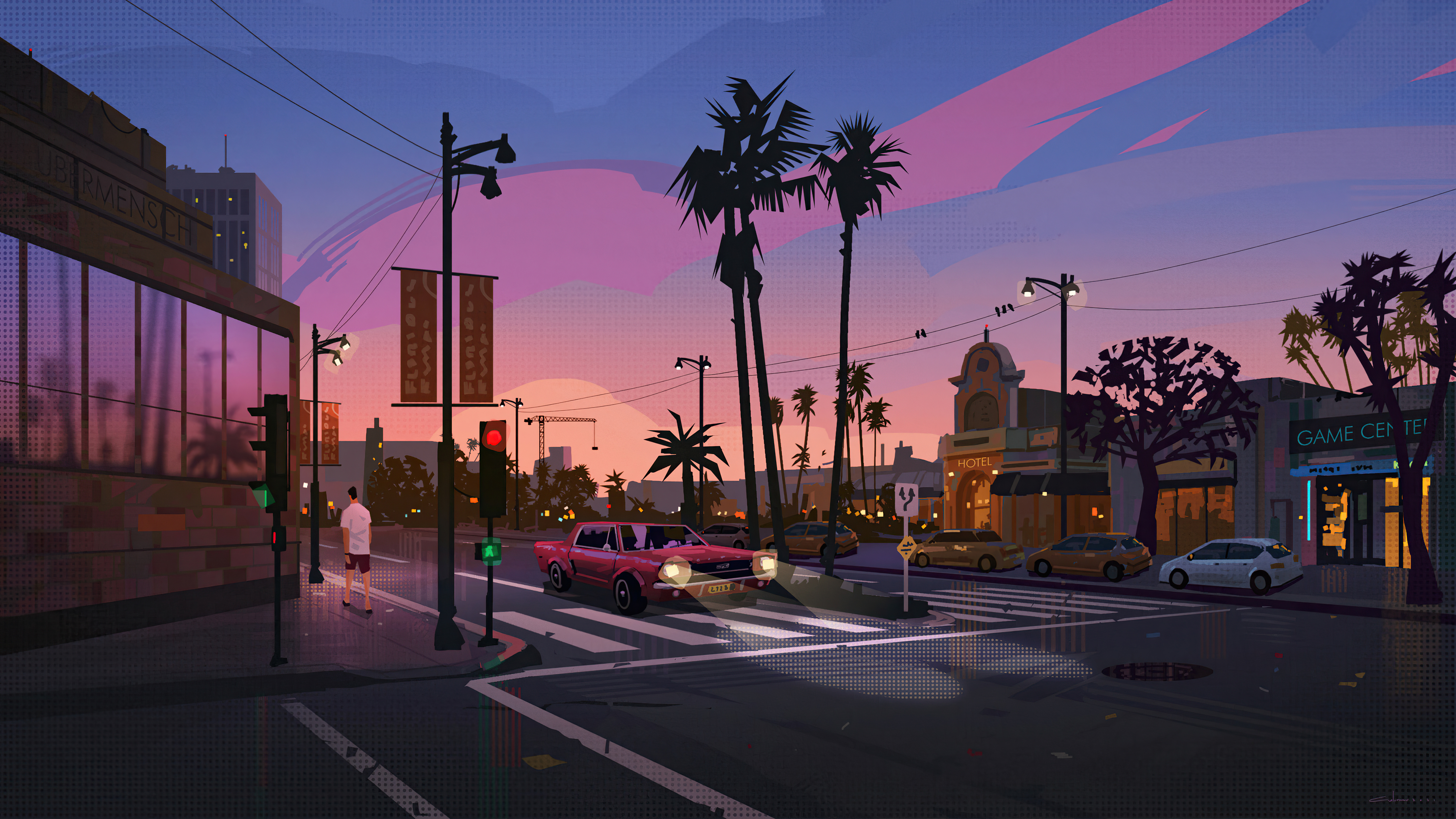 la street 4k 1618128095 - La Street 4k - La Street 4k wallpapers