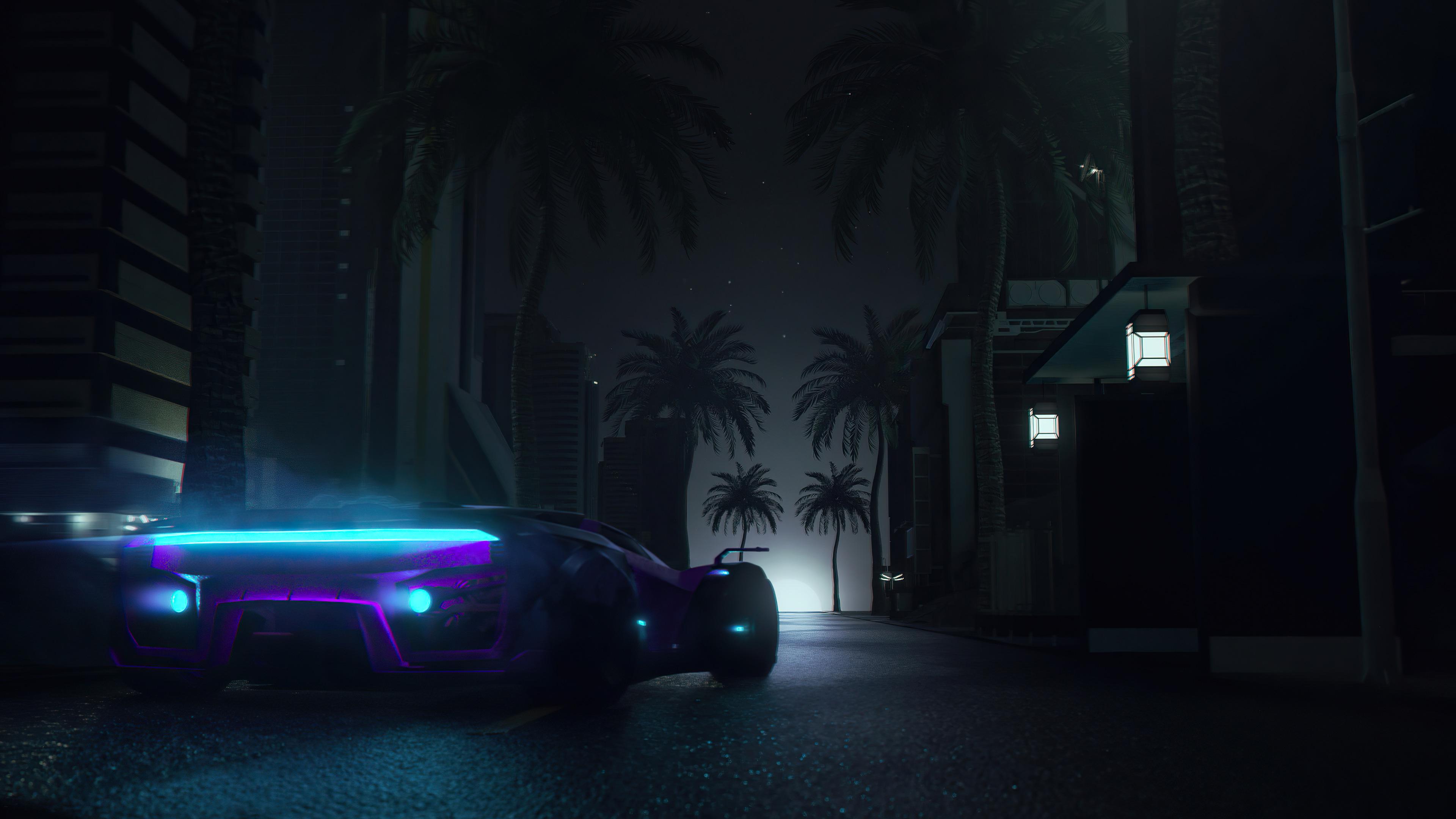 midnight neon drive 4k 1618128873 - Midnight Neon Drive 4k - Midnight Neon Drive 4k wallpapers
