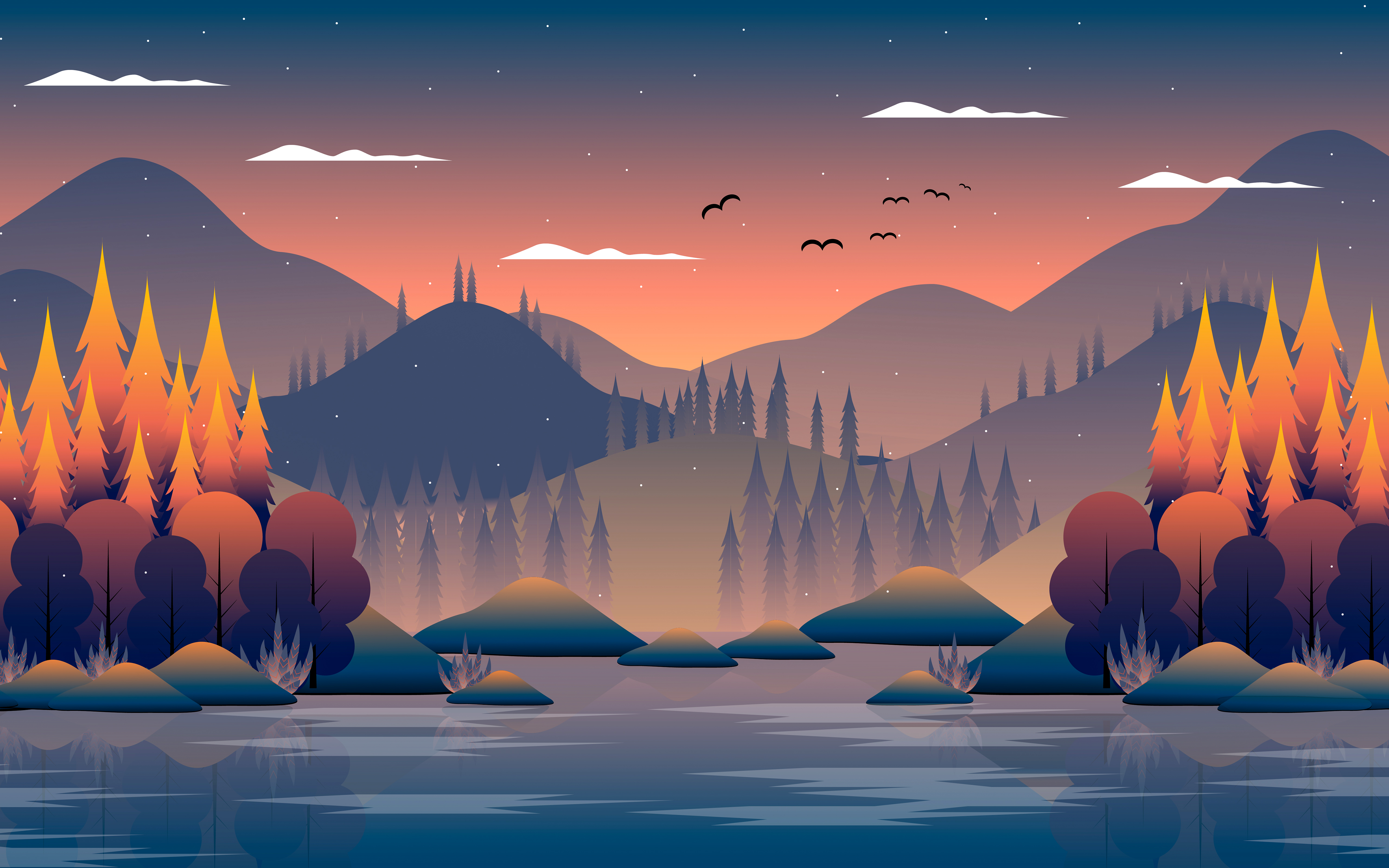mountains birds tree minimal 4k 1618131711 - Mountains Birds Tree Minimal 4k - Mountains Birds Tree Minimal 4k wallpapers