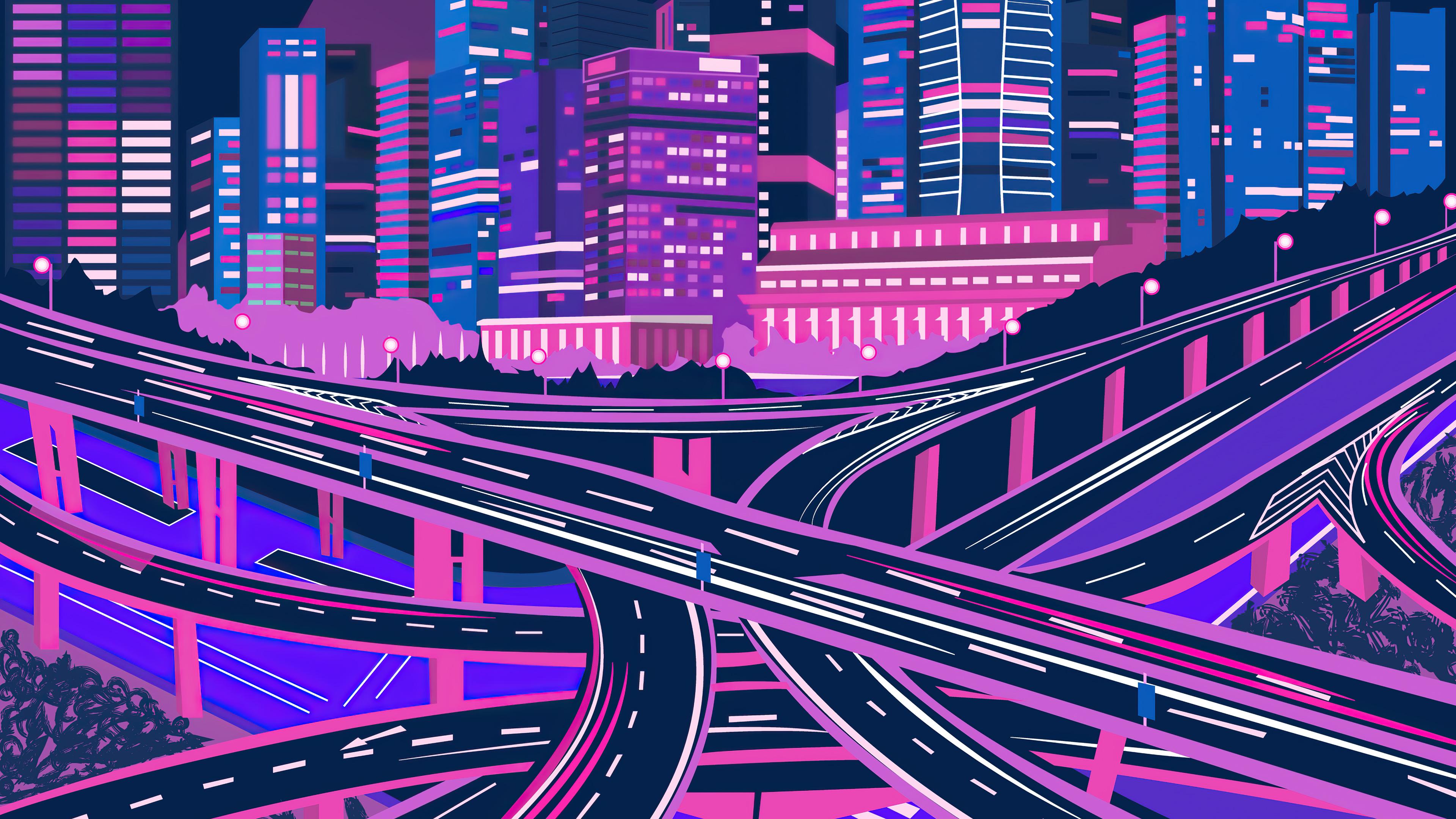 purple noen citycsape 4k 1618132157 - Purple Noen Citycsape 4k - Purple Noen Citycsape 4k wallpapers