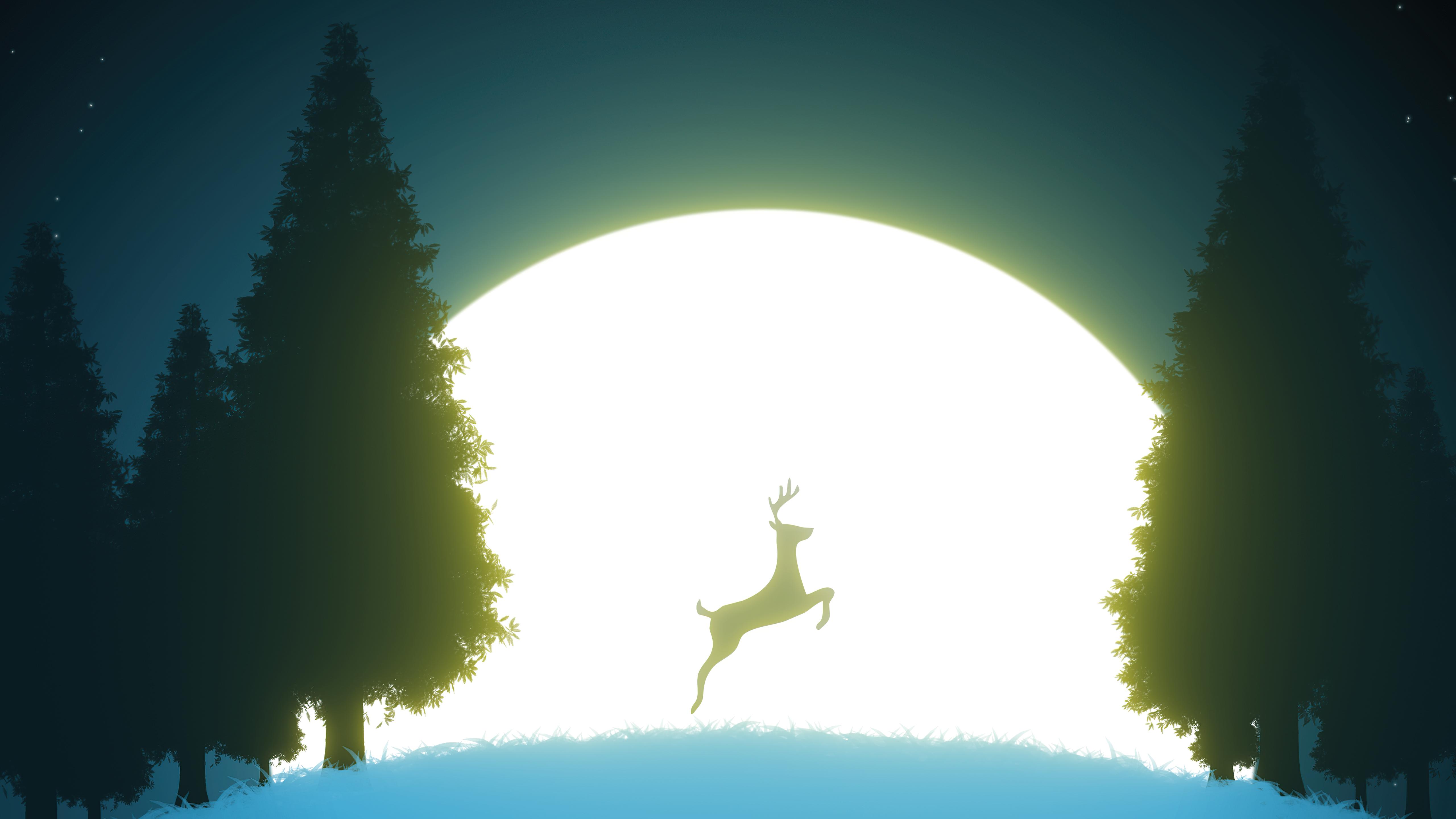 reindeer night jump 4k 1618129012 - Reindeer Night Jump 4k - Reindeer Night Jump 4k wallpapers