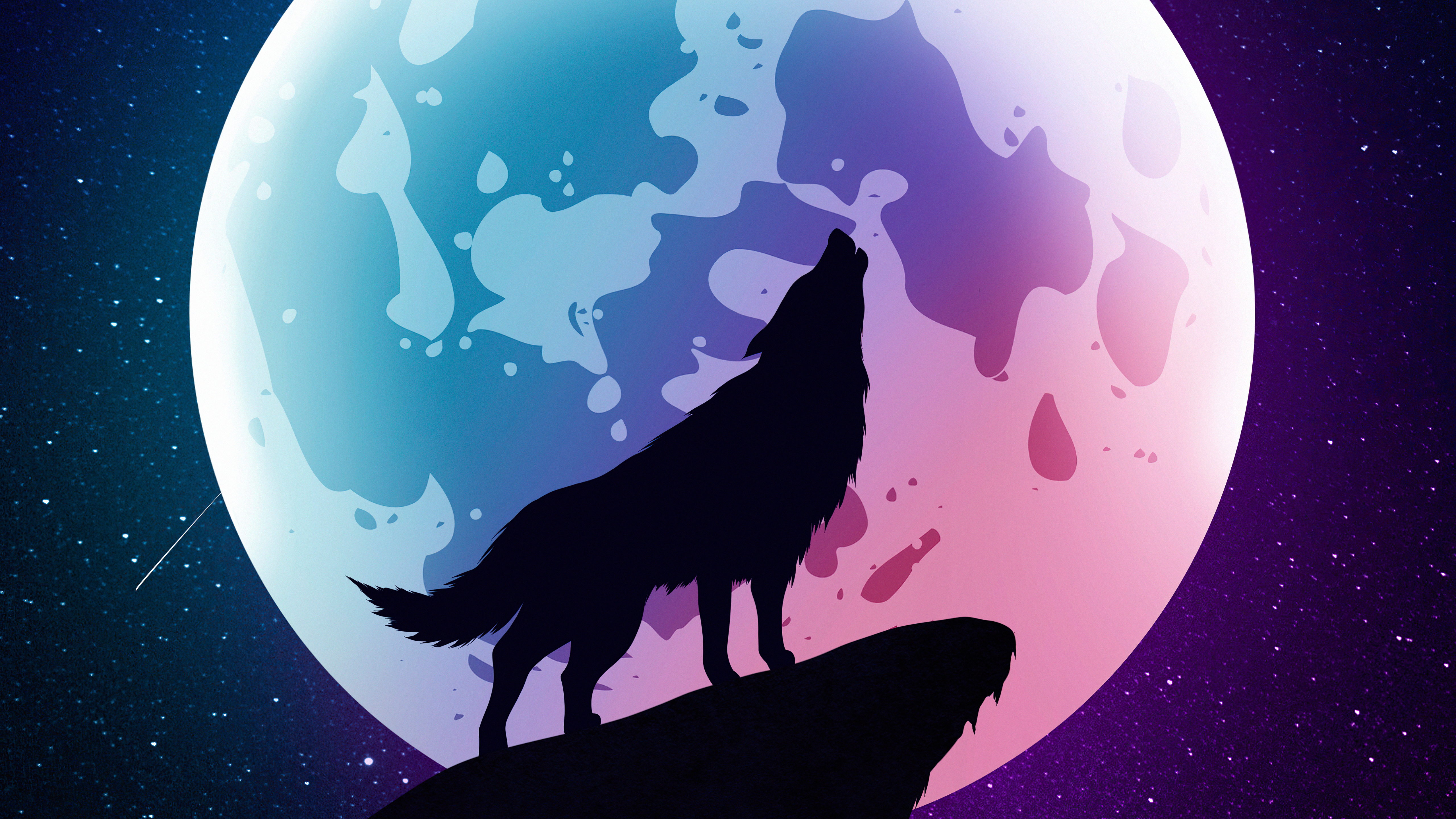 wolf howling moon night minimal 4k 1618132771 - Wolf Howling Moon Night Minimal 4k - Wolf Howling Moon Night Minimal 4k wallpapers