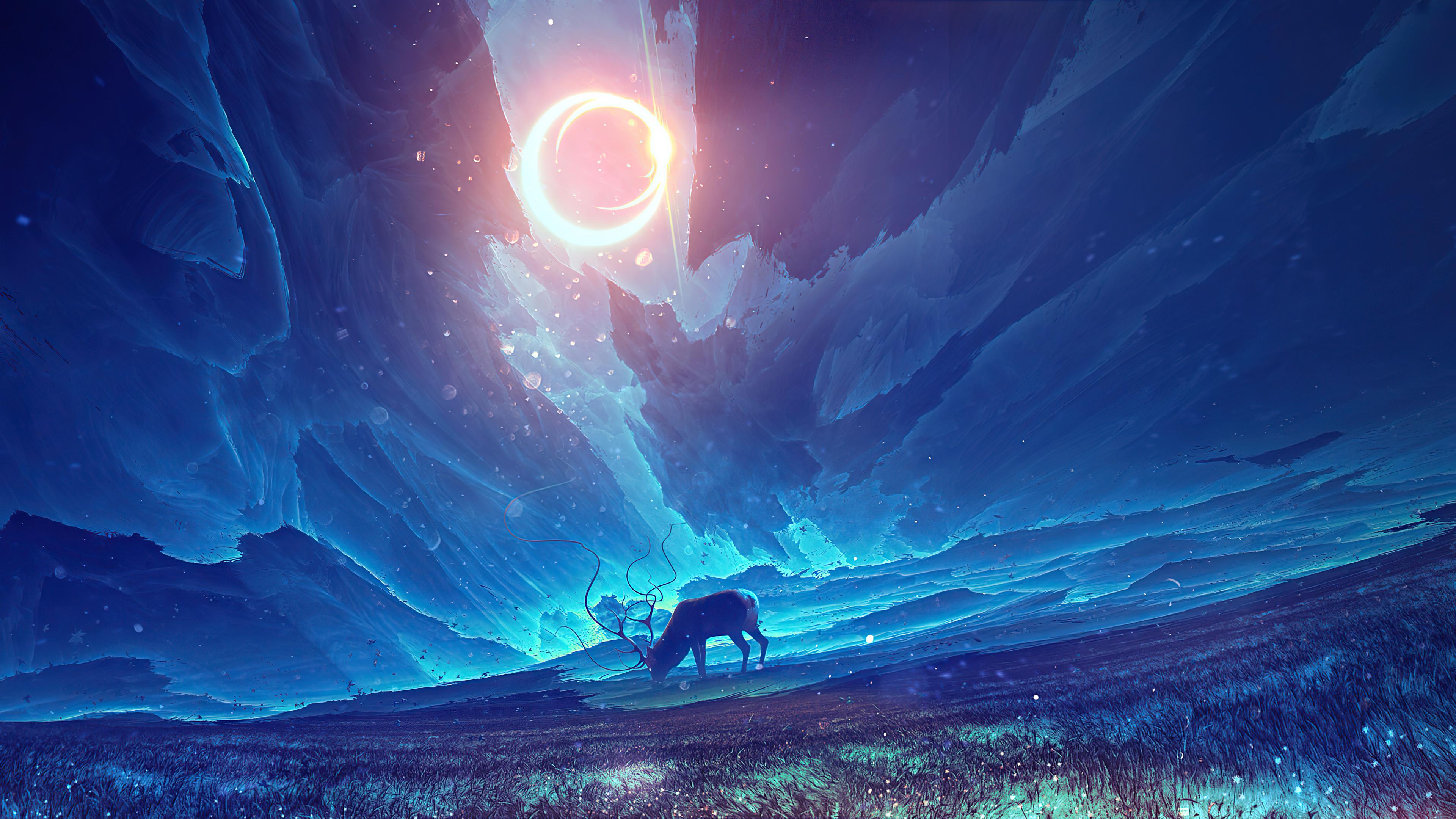 reindeer traveling the galaxy 4k 1620166298 - Reindeer Traveling The Galaxy 4k - Reindeer Traveling The Galaxy 4k wallpapers