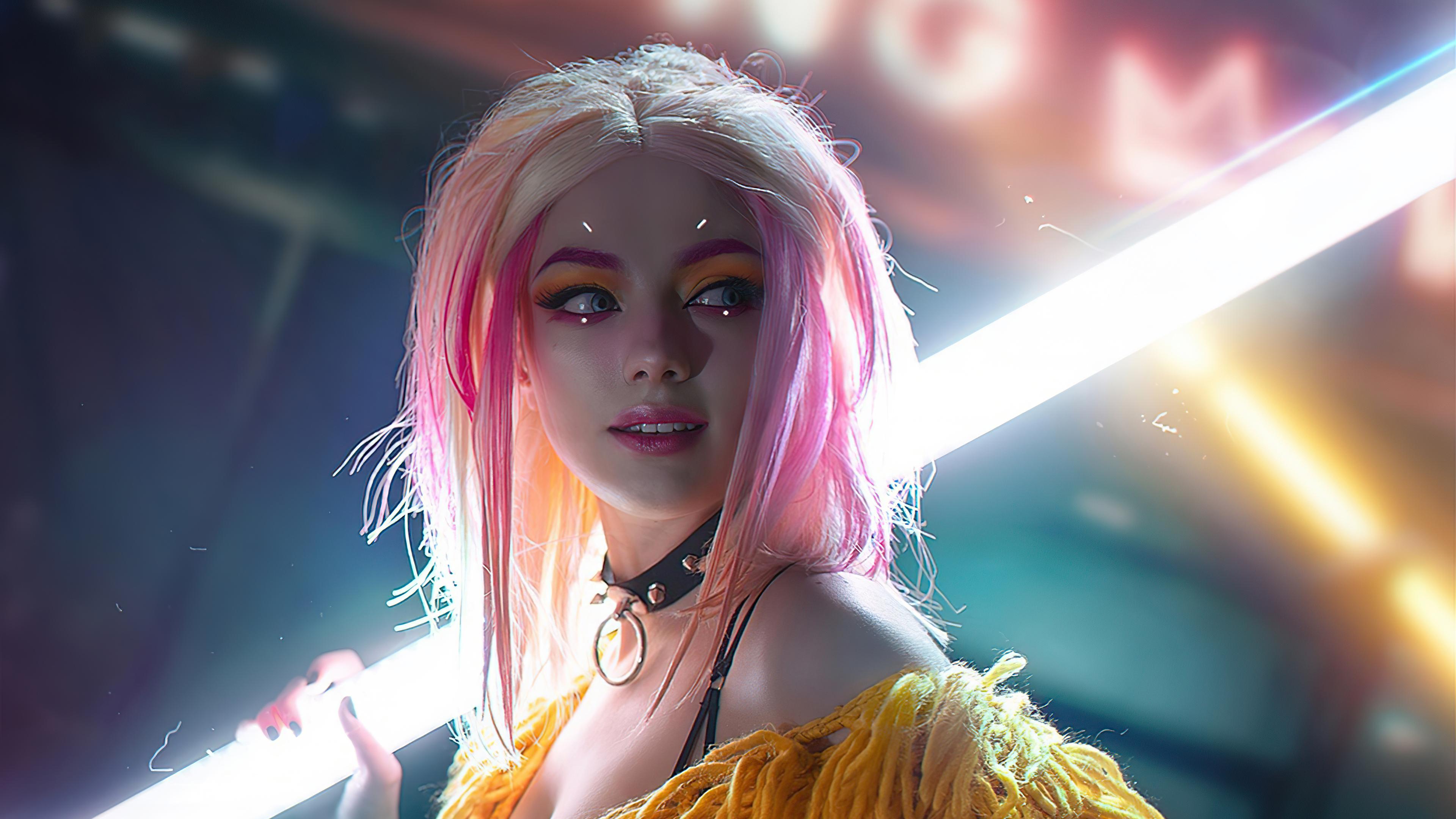 the cyberpunk girl cosplay 4k 1620166035 - The Cyberpunk Girl Cosplay 4k - The Cyberpunk Girl Cosplay 4k wallpapers