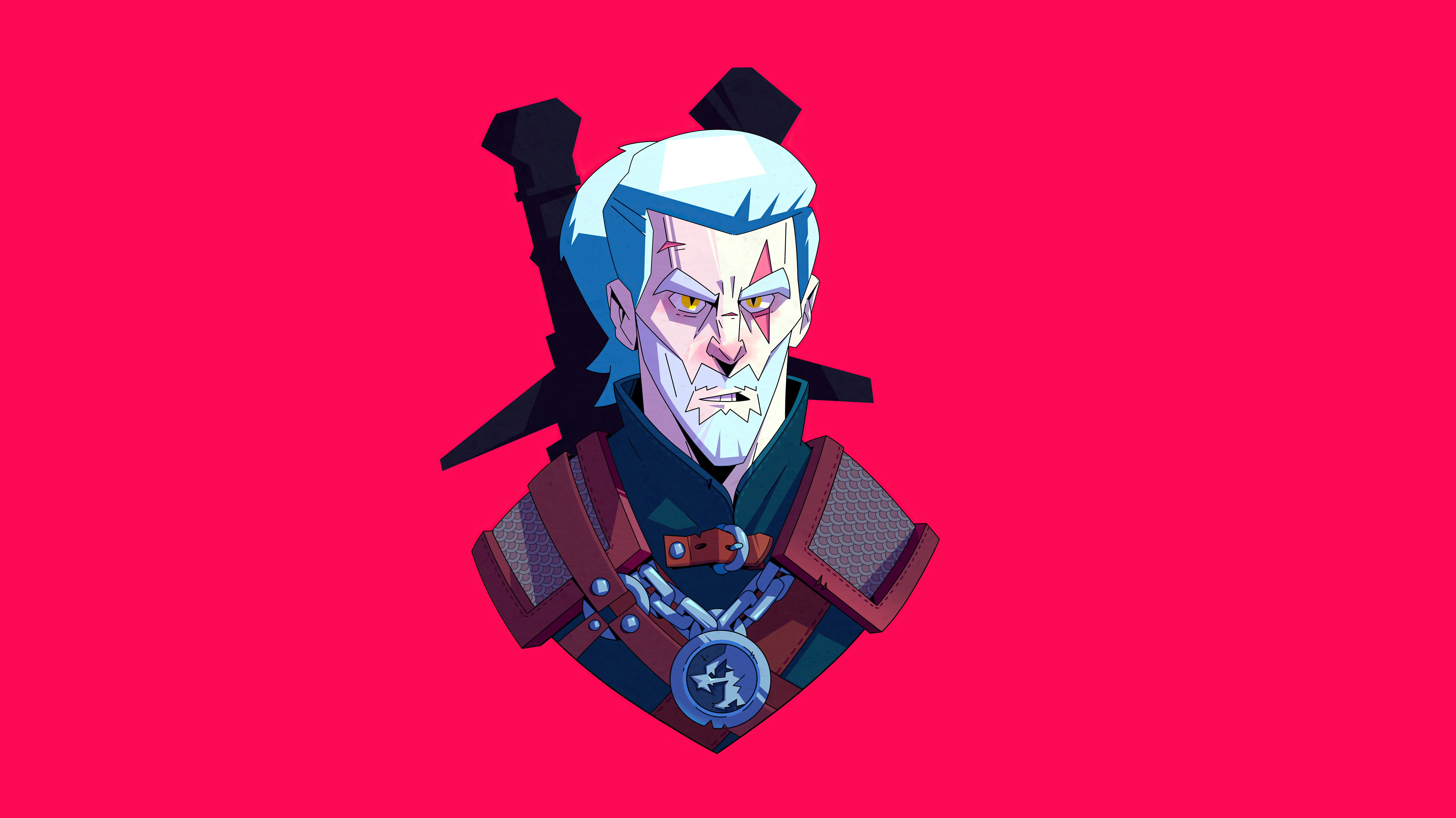 geralt of rivia from the witcher series minimal 4k 1626910842 - Geralt Of Rivia From The Witcher Series Minimal 4k - Geralt Of Rivia From The Witcher Series Minimal 4k wallpapers