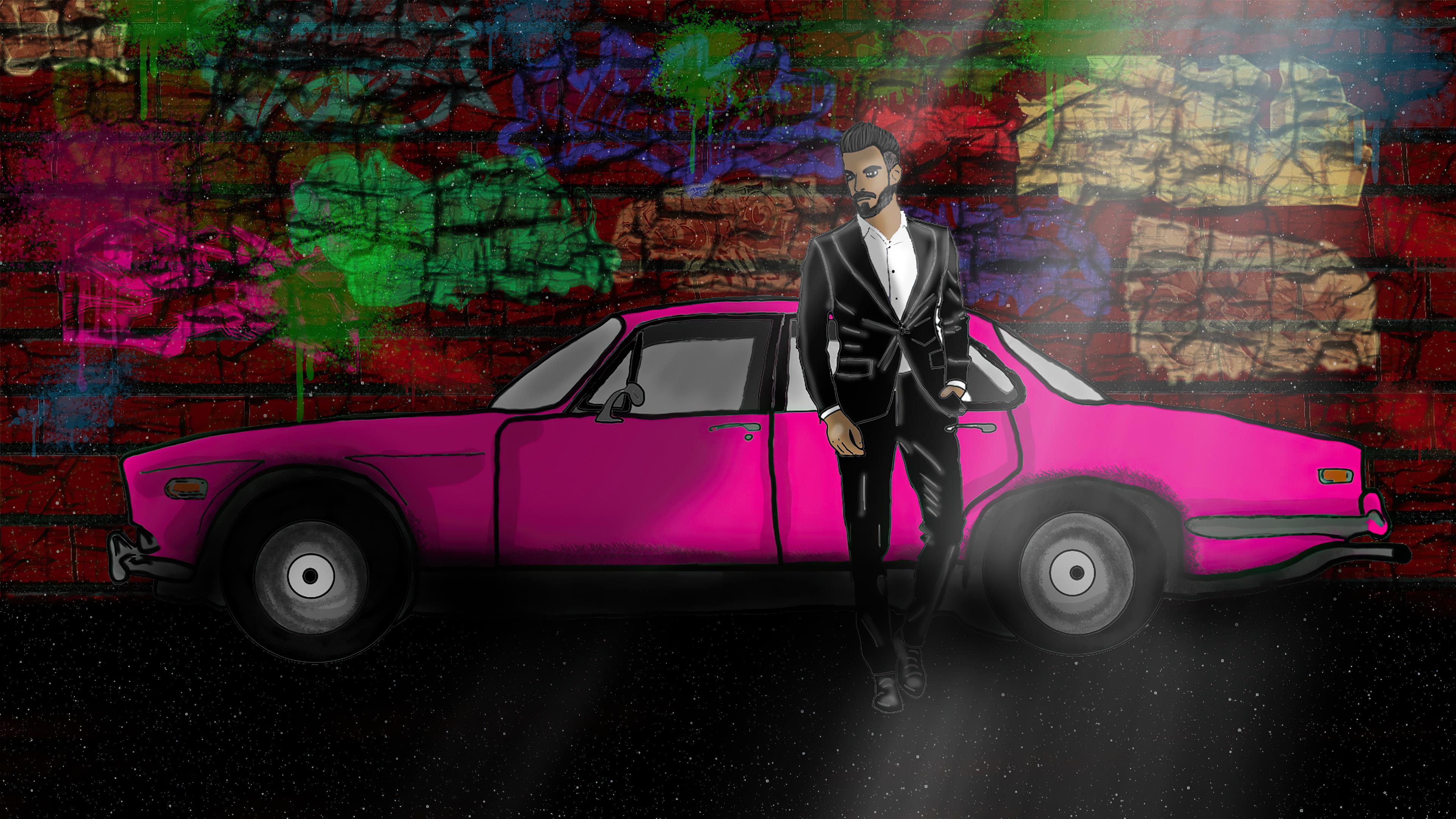 cool dude with pink car 4k 1634170486 - Cool Dude With Pink Car 4k - Cool Dude With Pink Car wallpapers, Cool Dude With Pink Car 4k wallpapers