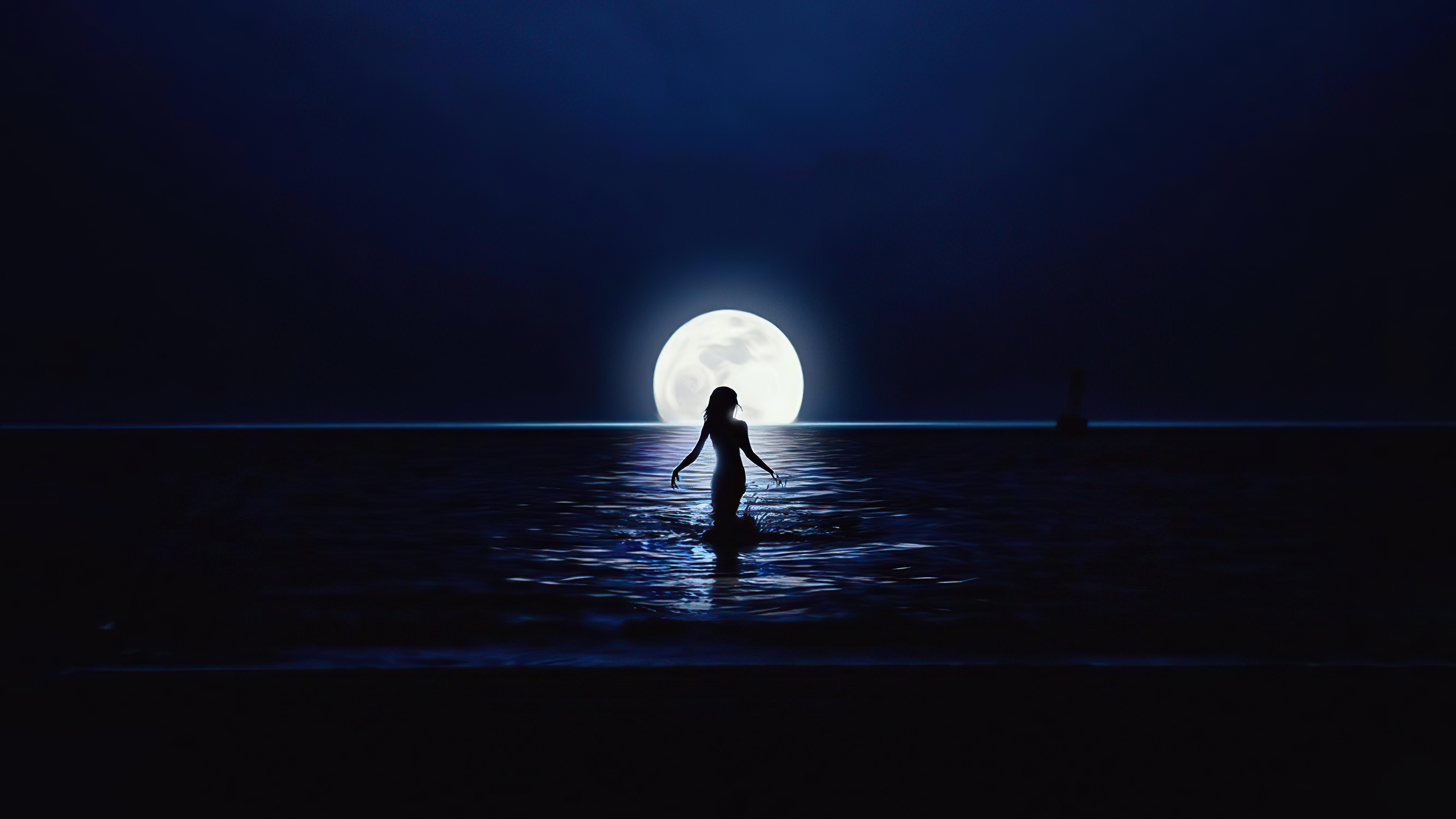 girl walking towards moon in ocean 4k 1634170484 - Girl Walking Towards Moon In Ocean 4k - Girl Walking Towards Moon In Ocean wallpapers, Girl Walking Towards Moon In Ocean 4k wallpapers