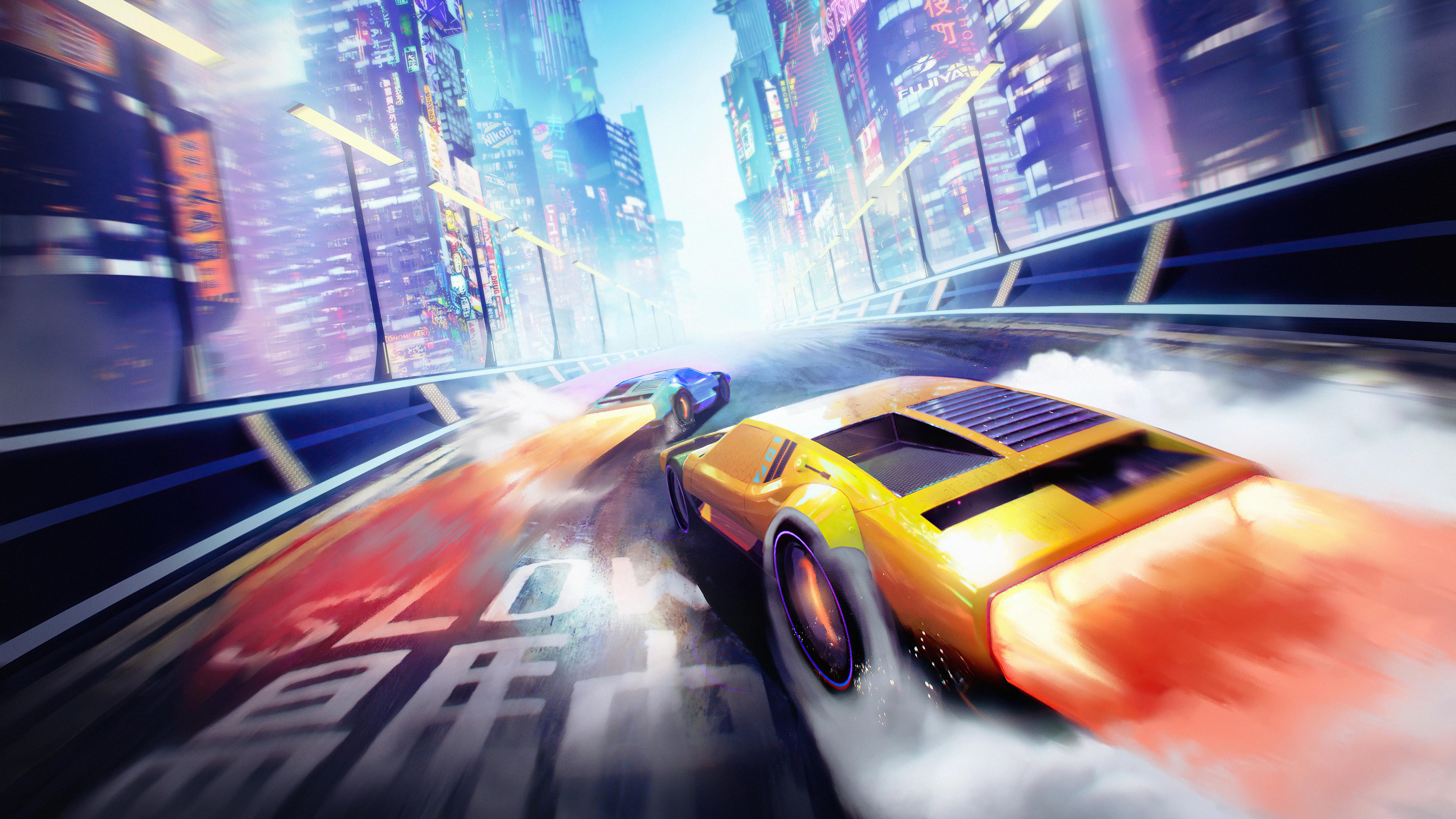 neo tokyo cyber cars 4k 1634170554 - Neo Tokyo Cyber Cars 4k - Neo Tokyo Cyber Cars wallpapers, Neo Tokyo Cyber Cars 4k wallpapers