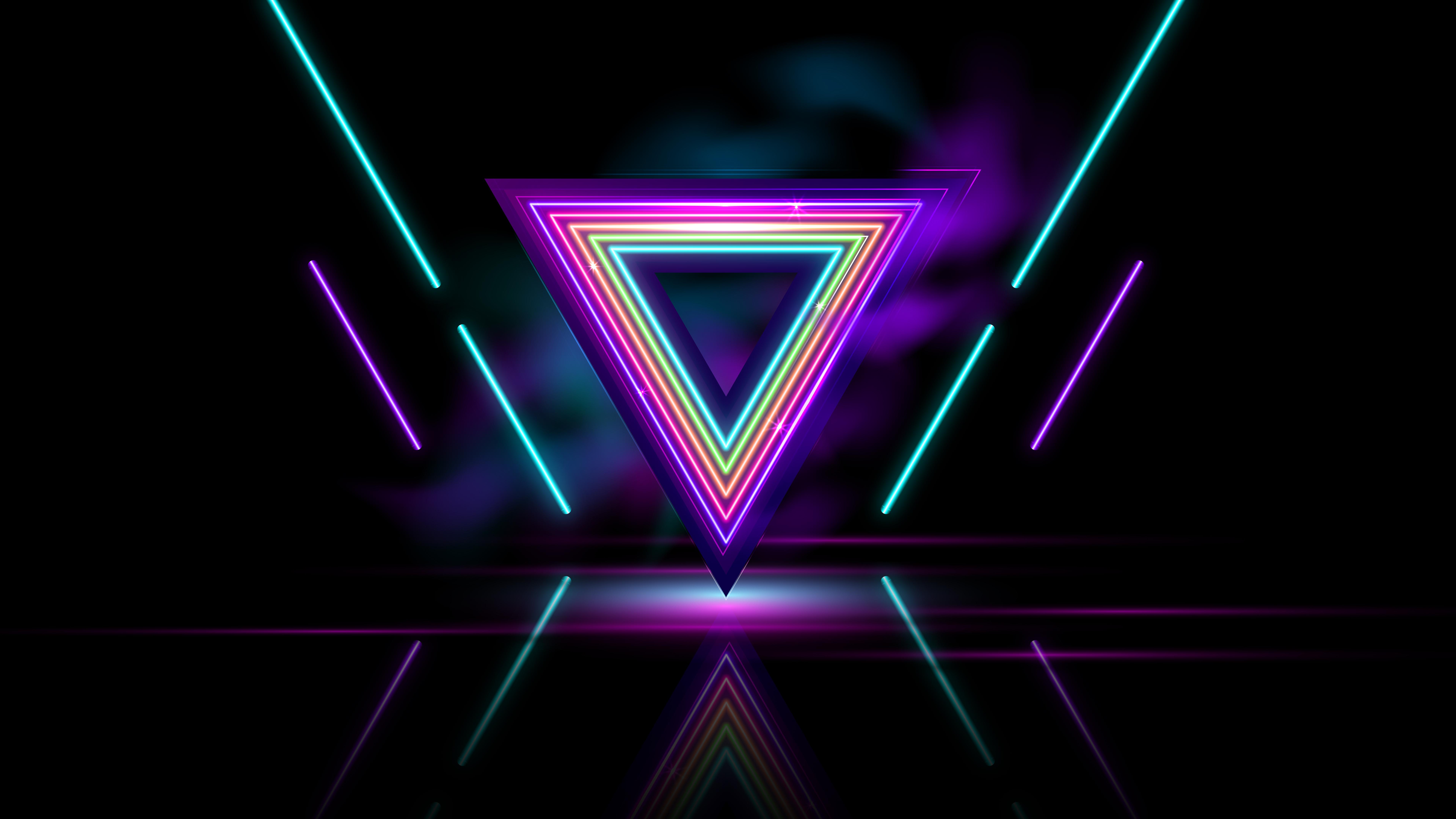 neon triangle abstract 4k 1634163894 - Neon Triangle Abstract 4k - Neon Triangle Abstract wallpapers, Neon Triangle Abstract 4k wallpapers