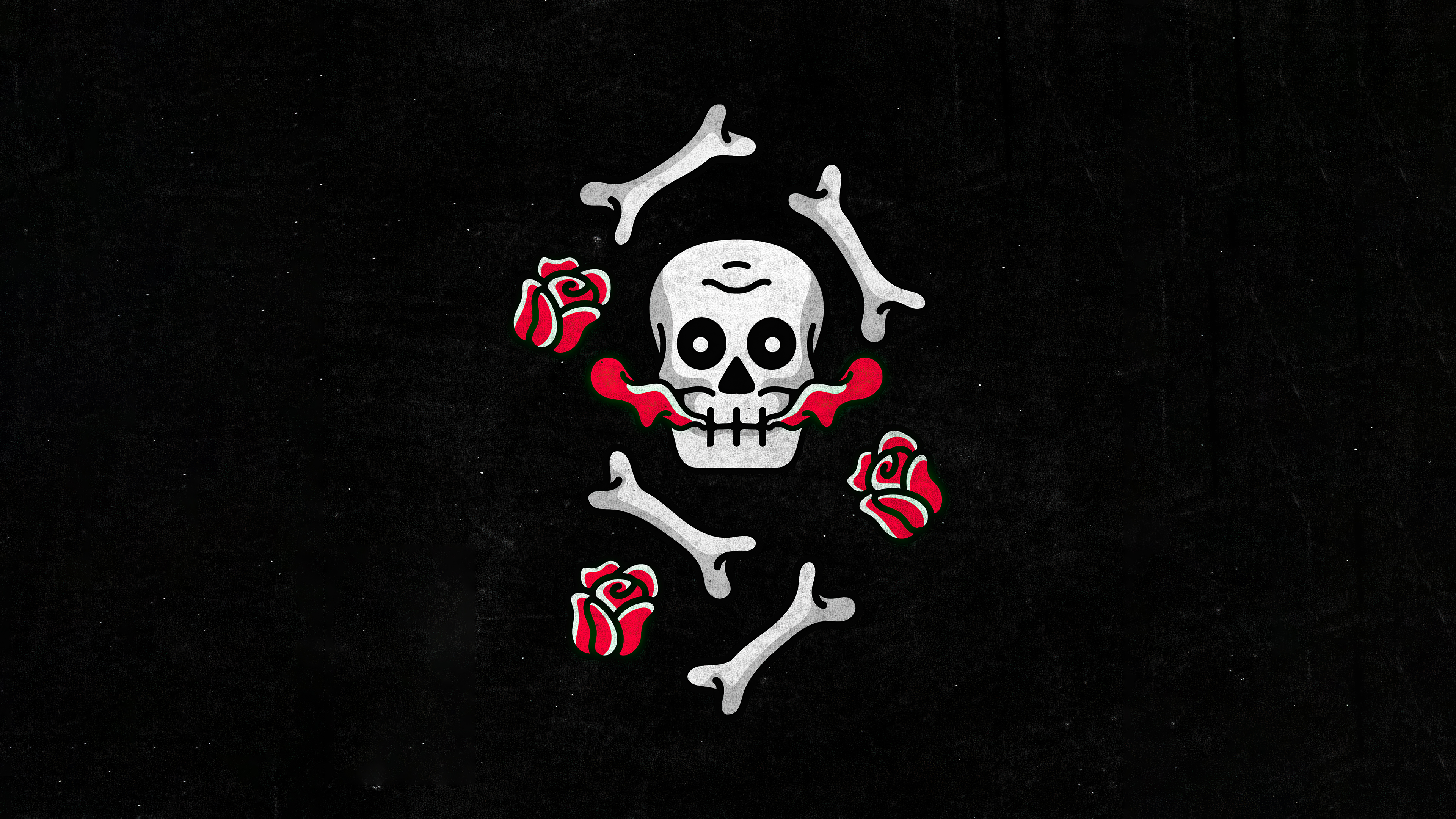 skull and roses dark minimal 4k 1634170457 - Skull And Roses Dark Minimal 4k - Skull And Roses Dark Minimal wallpapers, Skull And Roses Dark Minimal 4k wallpapers